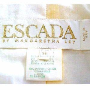 Escada Dresses - VTG. ESCADA 2 PC YELLOW FLORAL DRESS ENSEMBLE - M